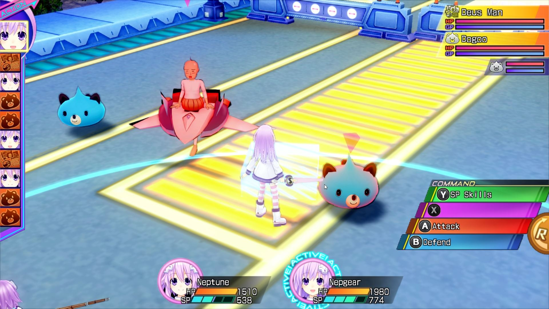 Hyperdimension Neptunia Re;Birth3 Review - Monsters roam the streets of Planeptune and yet people still worship Neptune as a leader.